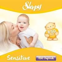 Sleepy Sensitive Islak Mendil Kapaklı Ambalaj 3'lü 150 Yaprak