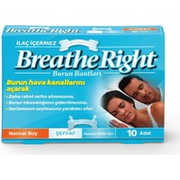 Breathe Right Burun Bandı Şeffaf Normal Boy 10'lu