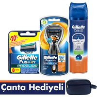 Gillette Fusion ProGlide Flexball Tıraş Paketi (Tıraş Makinesi + 8'li Bıçak + Jel)