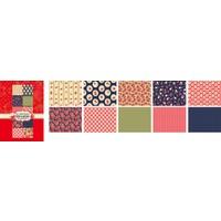 Keskin Color 10'Lu Dosyalı Çift Taraf Hobi Kartonu Kareli Çiçek1