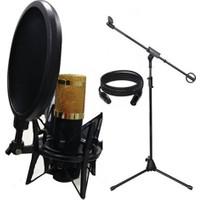 Lastvoice Bm800 Mikrofon + Stand + Sh 101 Shock Mount Ve Pop Filtre Set