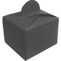 Elitetime Lokumluk Karton Düzrenk Desensiz Siyah
