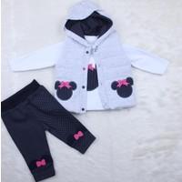 Hıppıl Baby Kız Şişme Yelekli 3'lü Takım 0162 Lacivert