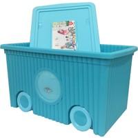 Flora Trendy Tekerlekli Oyuncak Kutusu 60 Litre Mavi