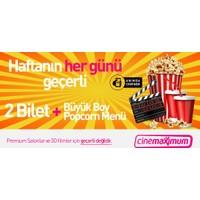 Tüm Cinemaximum'lar – (Premium Sinemalar Hariç - 3D Hariç) - 2 Sinema Bileti + Büyük Popcorn Menü