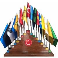 Gönder Bayrak - 17'Li Eski Türk Devletleri Seti (Takım)