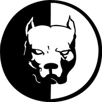 Solfera Pitbull Otomobil Araç Sticker Siyah Renk Etiket 13.5 Cm Cs054