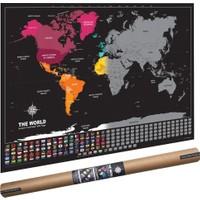 The World Deluxe Scratch Map Kazınabilir Dünya Haritası