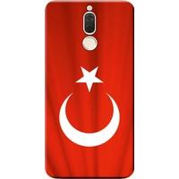 Kılıf Merkezi Huawei Mate 10 Lite Kılıf Silikon Baskılı Türk Bayrağı STK:370