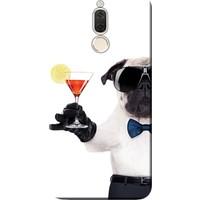 Kılıf Merkezi Huawei Mate 10 Lite Kılıf Silikon Baskılı Gözlüklü Pug STK:455