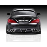 Mercedes CLA W117 AMG 2013 Sonrası Piecha Arka Tampon Eki - Difüzör (Plastik)