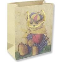 Mutlu Adım 12 Adet 11 x 14 cm Ayıcık Kraft Karton Çanta