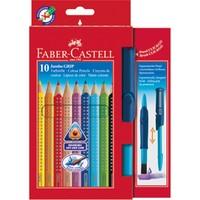 Faber-Castell Jumbo Grip Boya Kalemi, 10 Renk (Suluboya Fırçalı)