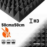 Mastercare Karbon Piramit Akustik Sünger 50 Cm Yükseklik 3 Cm 422238