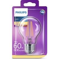 Philips LED Classic 60W A60 E27 Non-Dim 2700K Sarı Işık Filament Ampul