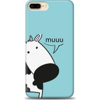 Eiroo iPhone 8 Plus İnekli Desen Kılıf