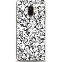 Eiroo Samsung Galaxy A8 Plus 2018 Karikalar Desen Kılıf