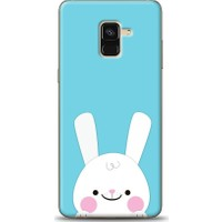 Eiroo Samsung Galaxy A8 Plus 2018 Tavşanlı Desen Kılıf