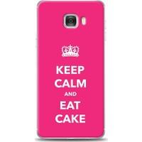 Eiroo Samsung Galaxy C7 Keep And Calm Desen Kılıf