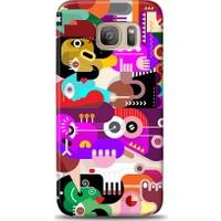 Eiroo Samsung Galaxy S7 Edge Modern Art Desen Kılıf