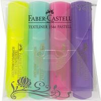 Faber-Castell Şeffaf Gövde Pastel Renkler 1546, 4'lü Poşet
