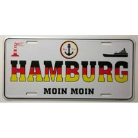 Sibiro Dekoratif Plaka Hamburg Moin Moin