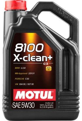 Motul 8100 X-CLEAN+ 5W-30 5 lt