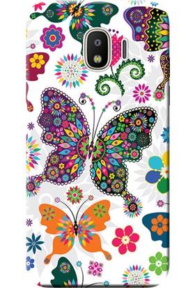 Kılıf Merkezi Samsung Galaxy Grand Prime Pro Kılıf SM-J250F Silikon Baskılı Renkli Kelebekler STK:541