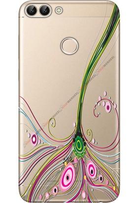 Kılıf Merkezi Huawei P Smart Kılıf Silikon Baskılı Renli Çizgi STK:358