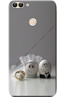 Kılıf Merkezi Huawei P Smart Kılıf Silikon Baskılı Yumurtaşk STK:558