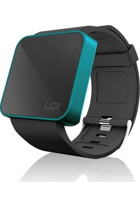 Up! Watch Smooth Black&Turquoise Unisex Kol Saati