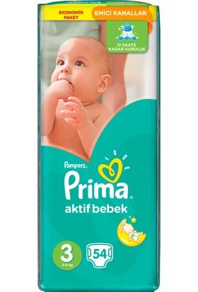 Prima Bebek Bezi Aktif Bebek 3 Beden 54 Adet