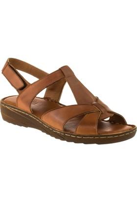 Stella 18053 Tek Cirt Taba Kadın Sandalet