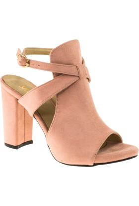 Stella 18143 Yüksek Topuk Pembe Kadın Ayakkabı
