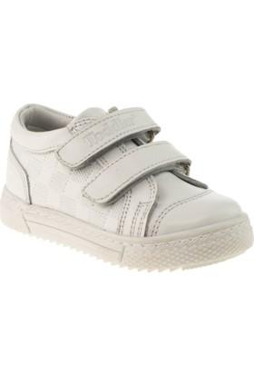 Toddler 6071 Çift Cirt Beyaz Çocuk Ayakkabı