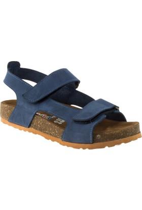 Toddler 4680 Çift Cirt Mavi Çocuk Sandalet