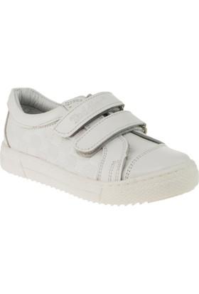 Toddler 6011 Çift Cirt Beyaz Çocuk Ayakkabı