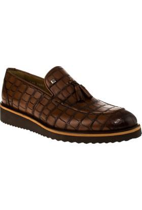 Fosco 8008 Bağsiz Klasik Taba Erkek Ayakkabı