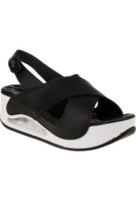 Muya 28287 8y Yüksek Topuk Tek Cirt Siyah Kadın Sandalet