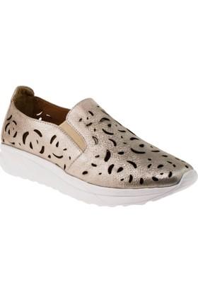 Estile 101-97 Delikli Simli Günlük Pudra Kadın Ayakkabı