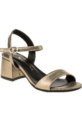 Femmina 1503 Tek Bant Yazlik Bronz Kadın Ayakkabı