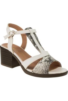 Femmina 8821 Tek Bant Yazlik Beyaz Kadın Ayakkabı