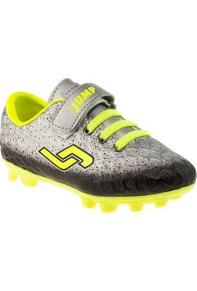 Jump 19488 Tek Cırt Krampon Gümüş Çocuk Spor Ayakkabı