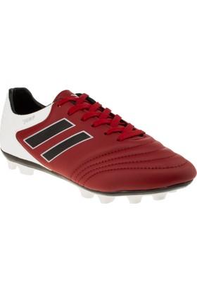 Jump 18100 Bağlı Krampon Kırmızı Erkek Spor Ayakkabı