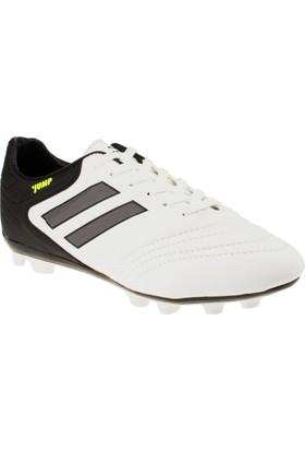 Jump 18100 Bağlı Krampon Beyaz Erkek Spor Ayakkabı