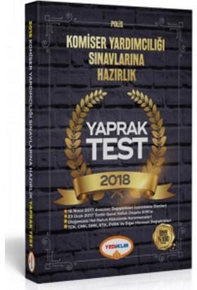 Yediiklim Yayınevi 2018 Komiser Yardımcılığı Sınavlarına Hazırlık Yaprak Test