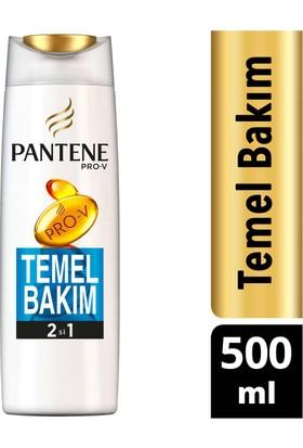 Pantene 2'si 1 Arada Şampuan ve Saç Bakım Kremi Temel Bakım 500 ml