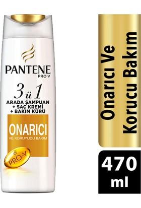 Pantene 3'ü 1 Arada Şampuan ve Saç Bakım Kremi Onarıcı ve Koruyucu Bakım 470 ml