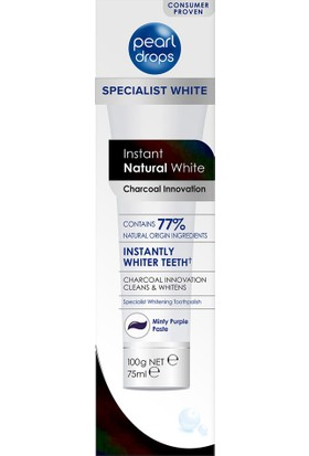 Pearl Drops Instant Natural White Charcoal Innovations