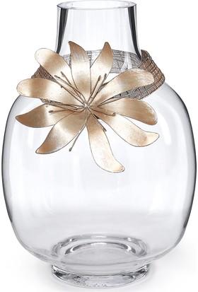 Mwd Dore Çiçek Temalı Dekoratif Cam Aksesuar